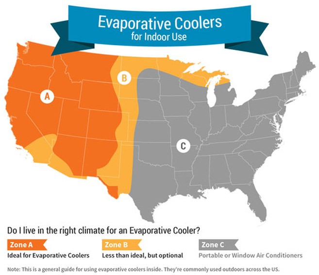 5 things to consider when buying an evaporative cooler sylvane Port a Cool Motor evaporative cooler map