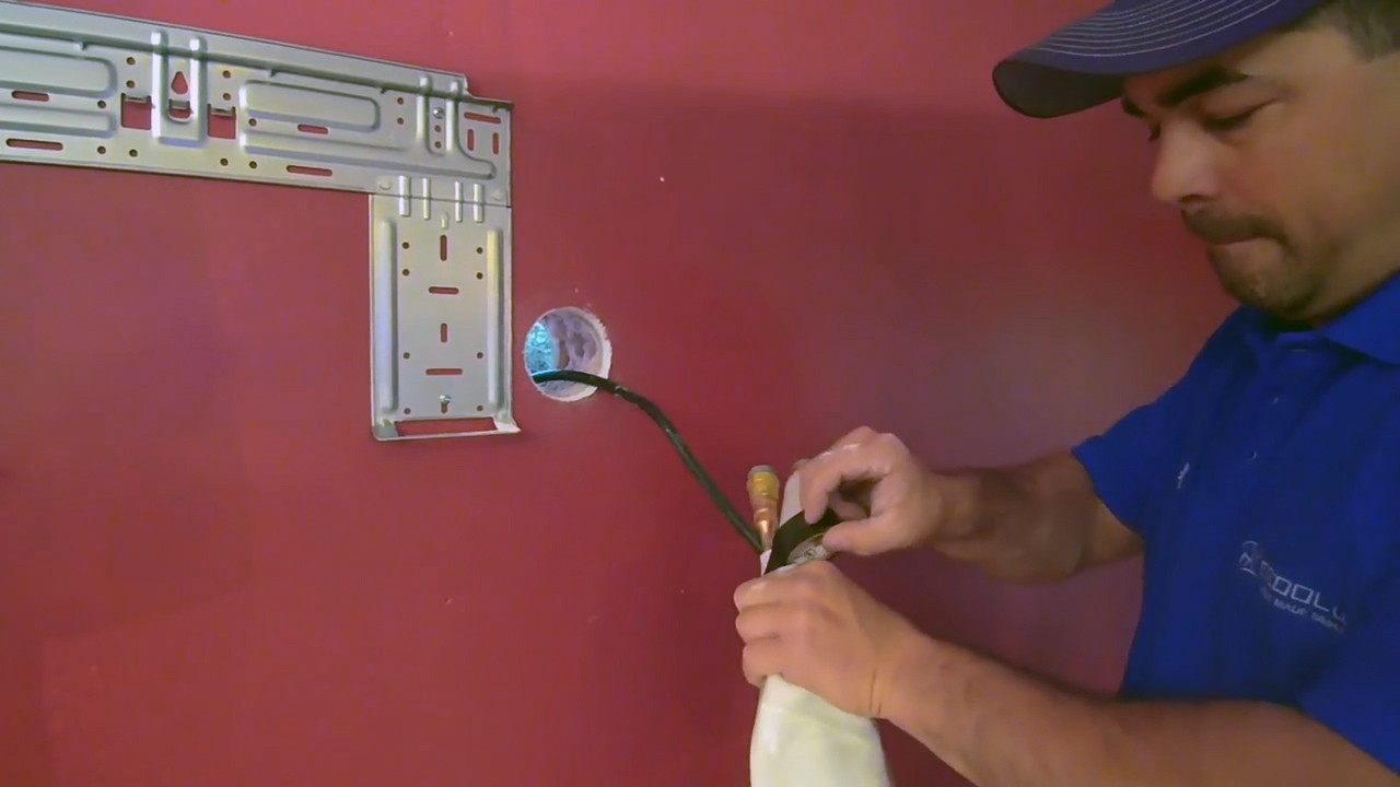 How To Install A Mrcool Mini Split 13 Steps Ac Unit Wiring Pass Piping Hose