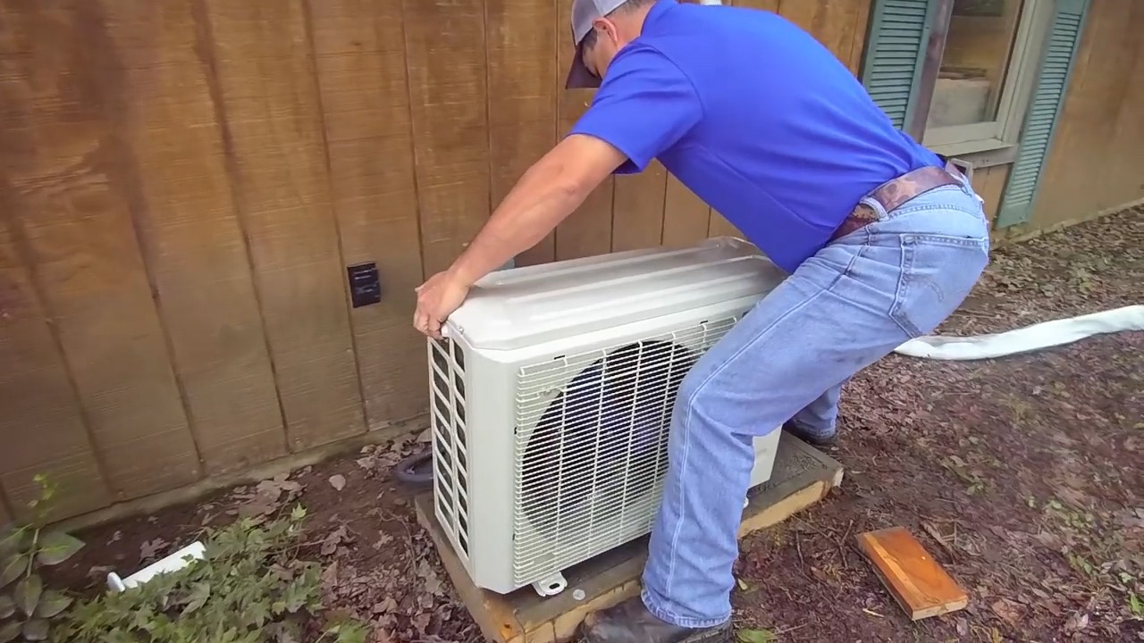 How to install a mrcool mini split 13 steps for Ac condenser pad installation