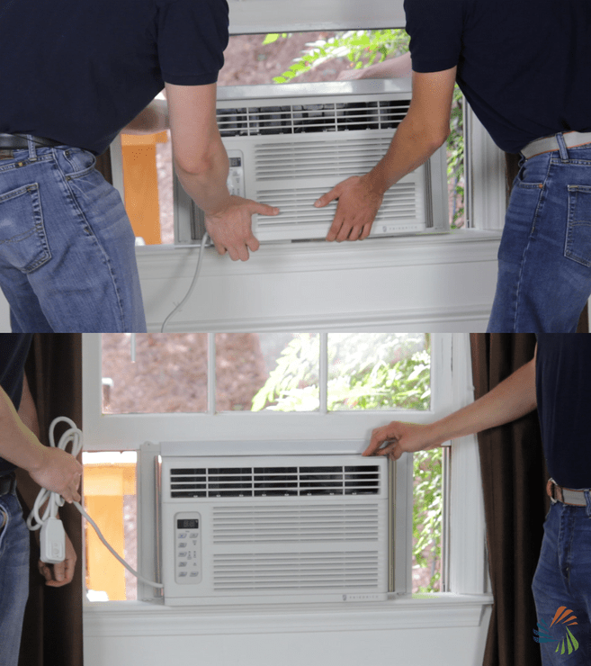 Step 4: Lift Air Conditioner into Window