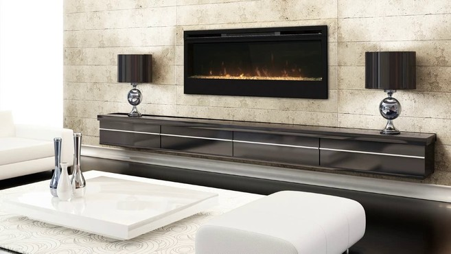 Dimplex 50 Inch Linear Electric Fireplace One Of The Sleekest And Most Popular Wall Mountable Fireplaces On Market Synergy Offers A