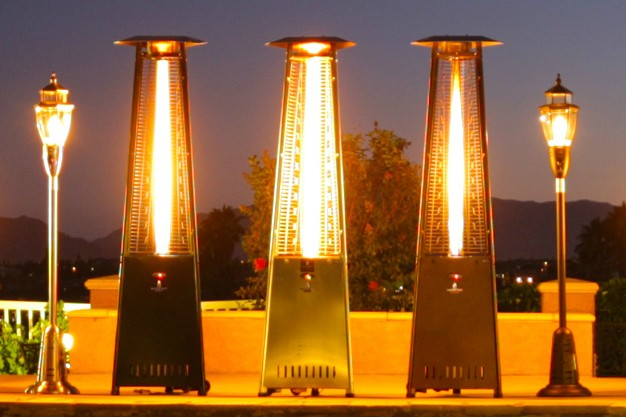 Natural gas patio heater Commercial Sylvane Natural Gas Patio Heaters Sylvane