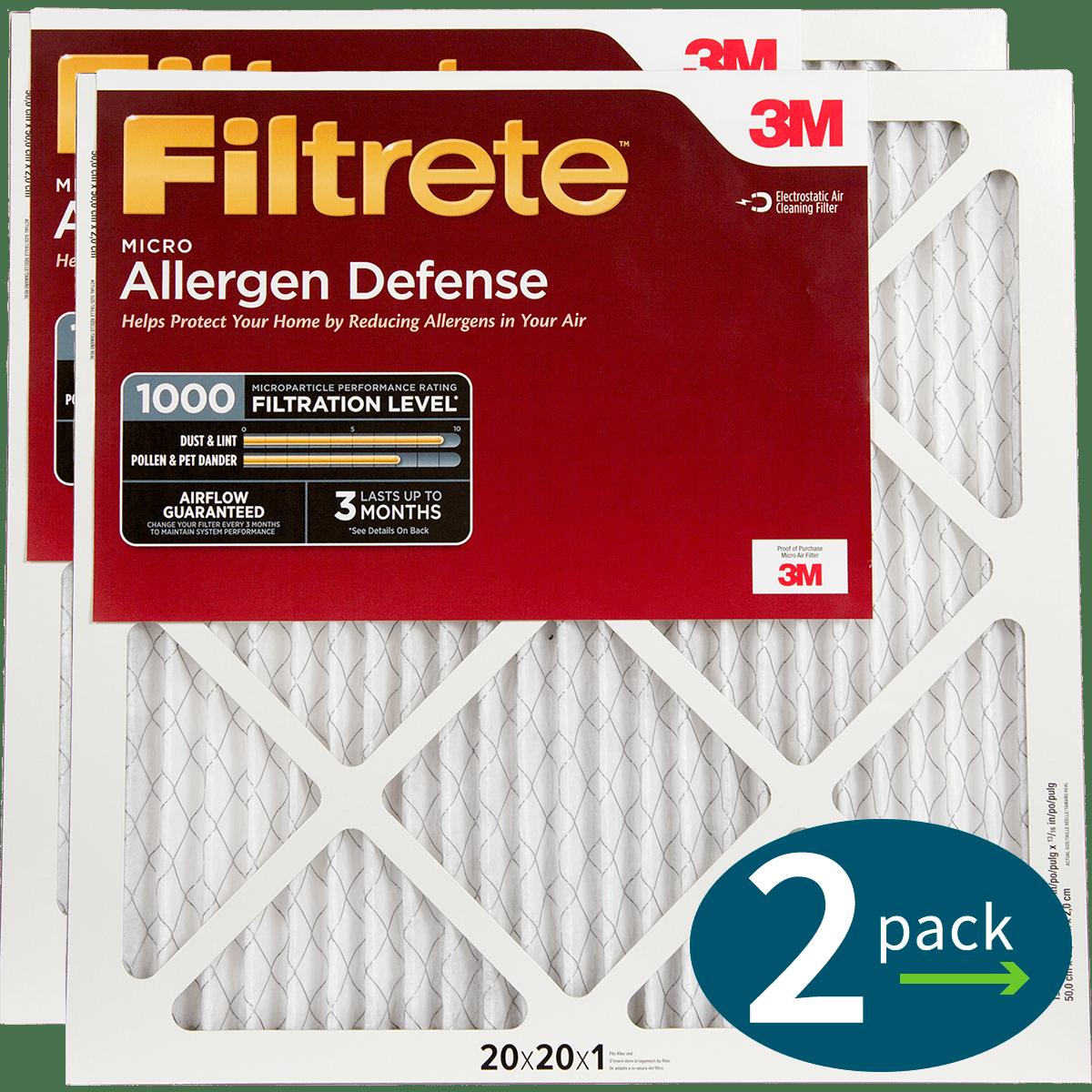 3M Filtrete 1-Inch Micro Allergen Defense MPR 1000 Air Filters - 2 Pack fi5409
