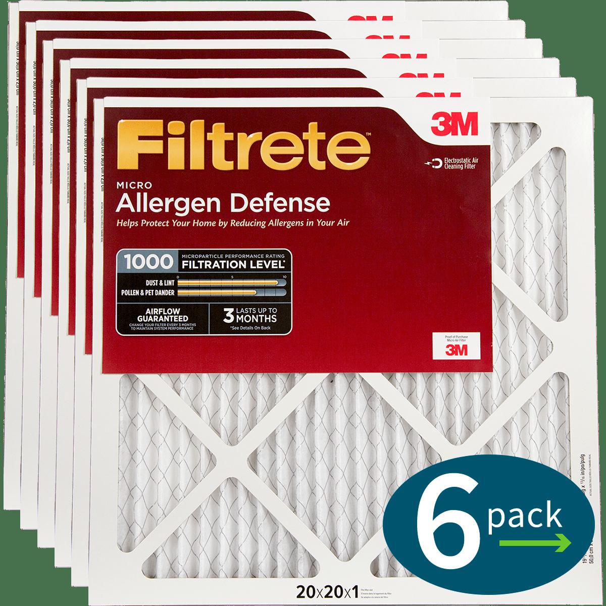 3M Filtrete 1-Inch Micro Allergen Defense MPR 1000 Air Filters - 2 Pack fi5413
