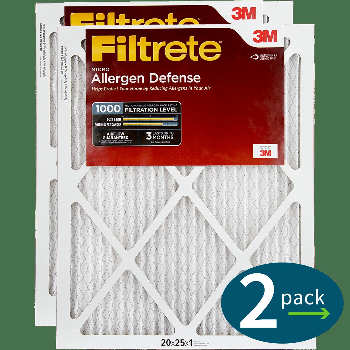 3M Filtrete 1-Inch Micro Allergen Defense MPR 1000 Air Filters - 2 Pack fi5410