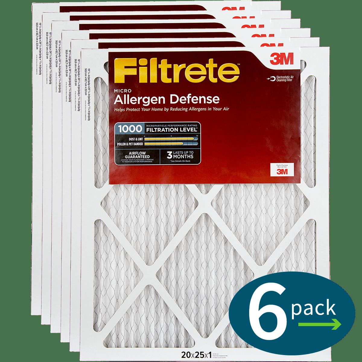 3M Filtrete 1-Inch Micro Allergen Defense MPR 1000 Air Filters - 2 Pack fi5414