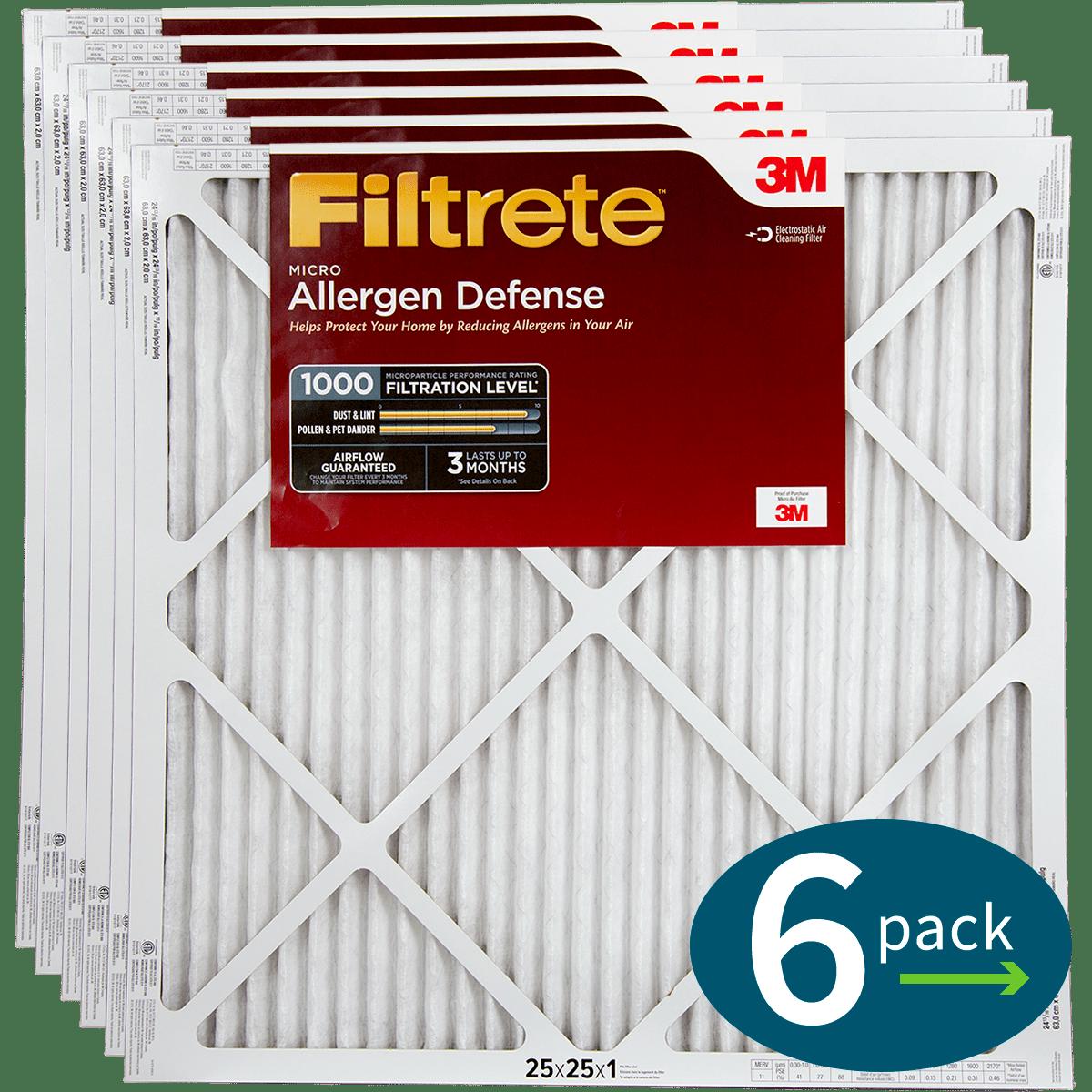 3M Filtrete 1-Inch Micro Allergen Defense MPR 1000 Air Filters - 2 Pack fi5415