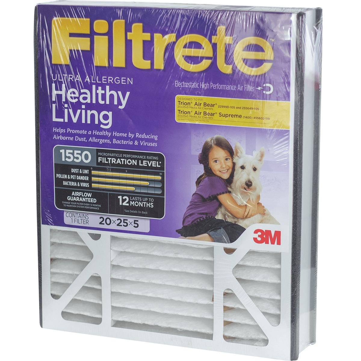 3m Filtrete Healthy Living 1550 Mpr 5-inch Ultra Allergen Reduction Filter