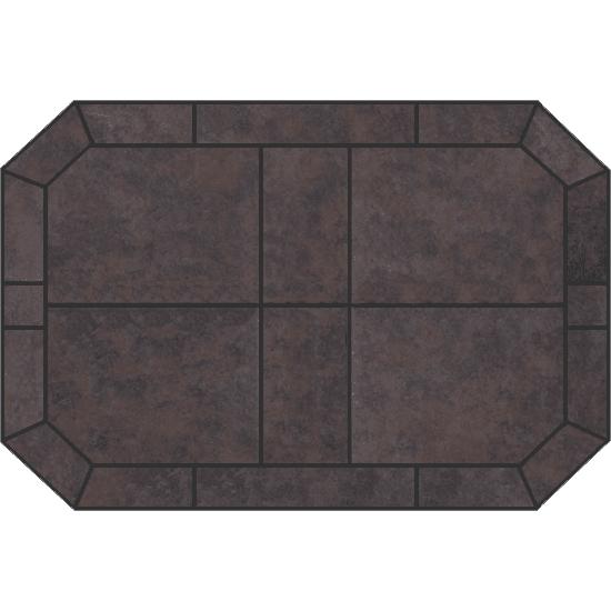 American Panel Octagonal Tartara Stove Board (36x42 Oct Tt)