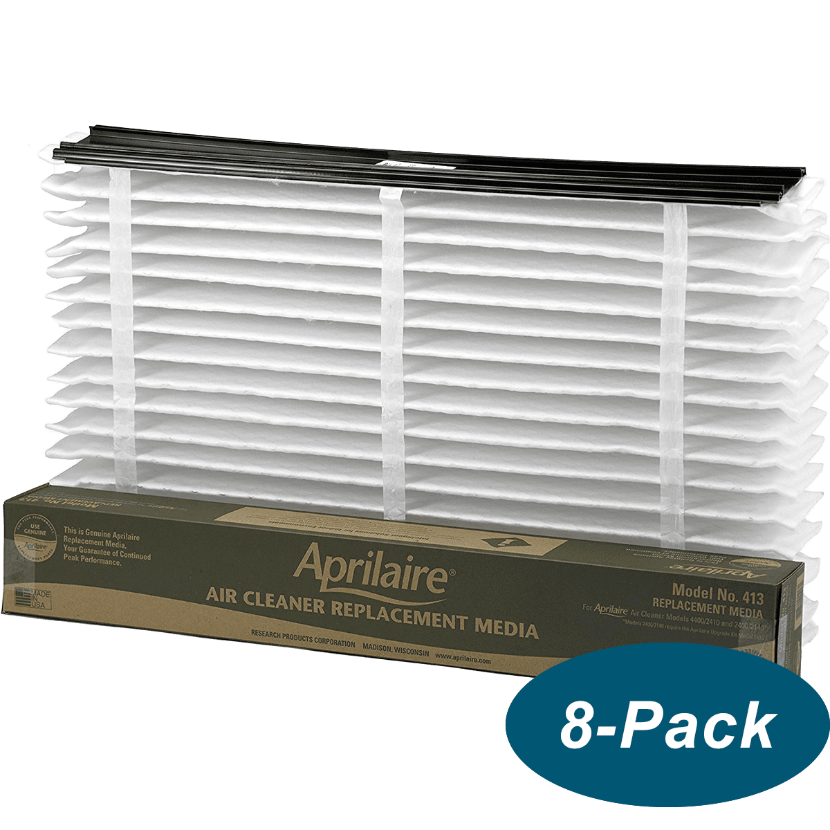 Image of Aprilaire 413 Air Filter (merv-13) - 8-pack