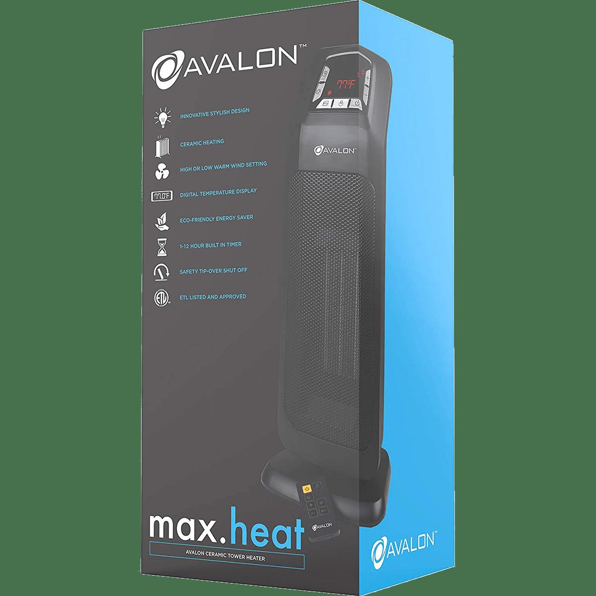 Avalon Oscillating 20 Inch Tower Heater Sylvane