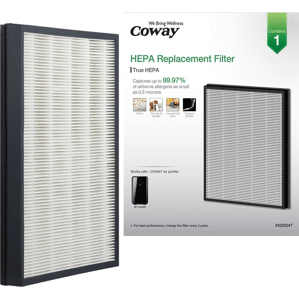 Coway MASK2 Air Purifier Replacement HEPA Filter (AP-1012GH-HEPA) co4805