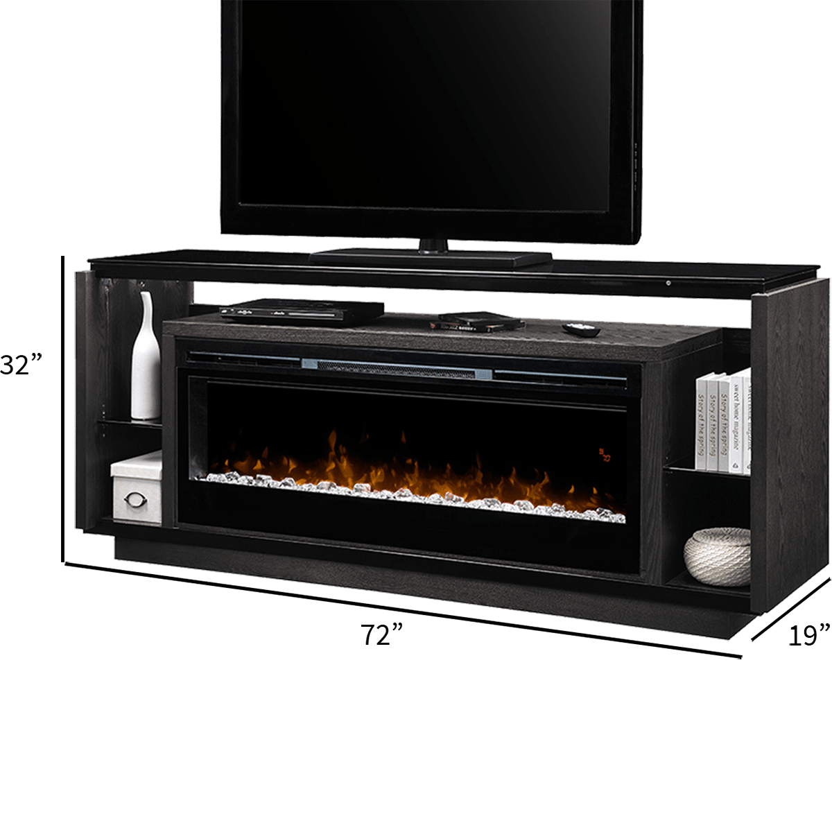 Dimplex David Media Console Fireplace Sylvane Electric Garage Heaters With Thermostat 1