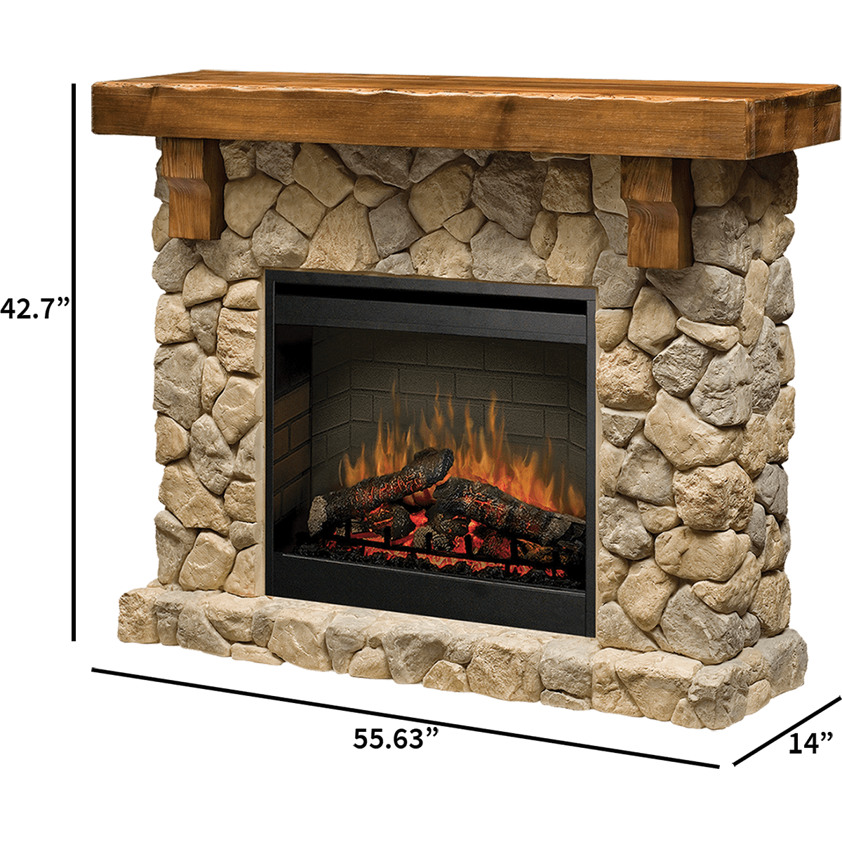 Cool Dimplex Fieldstone Electric Fireplace Home Interior And Landscaping Ologienasavecom