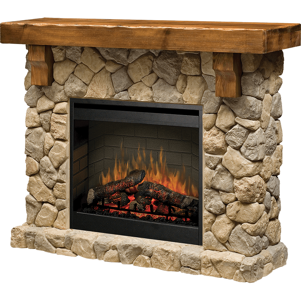Dimplex Fieldstone Electric Fireplace - Free Shipping ...