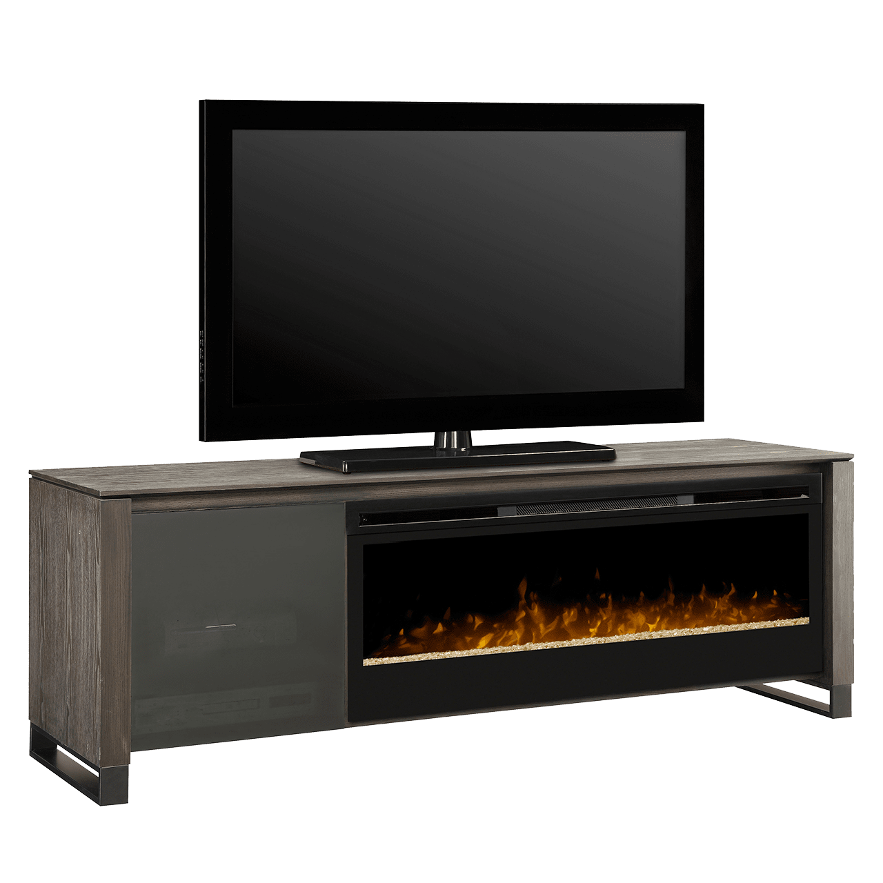 The Dimplex Howden Media Console Electric Fireplace is the ideal focal point of any in-home theatre or living room. Free Shipping at Sylvane.