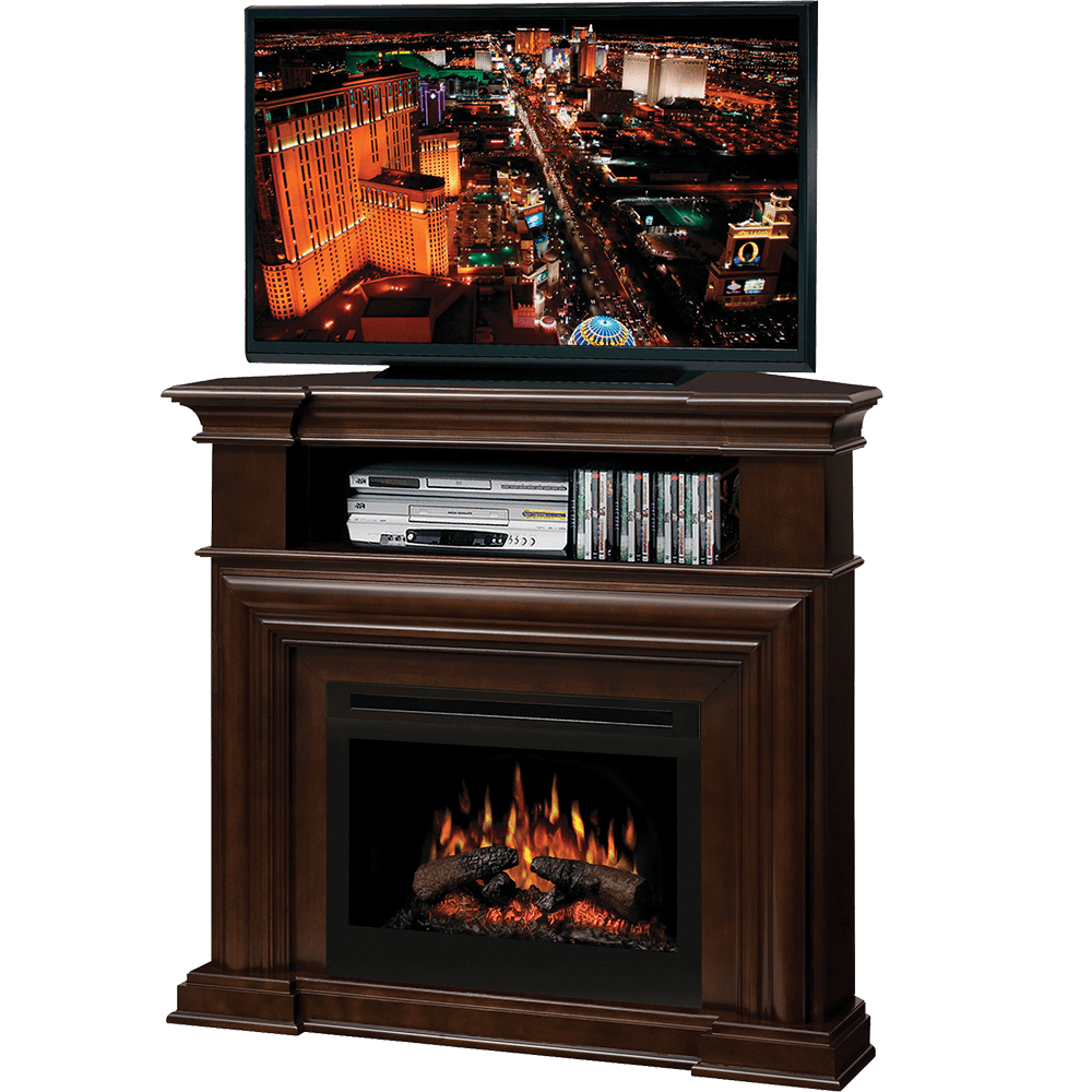 The Dimplex Montgomery Corner Media Console Electric Fireplace is the ideal focal point of any media room. Click for more!