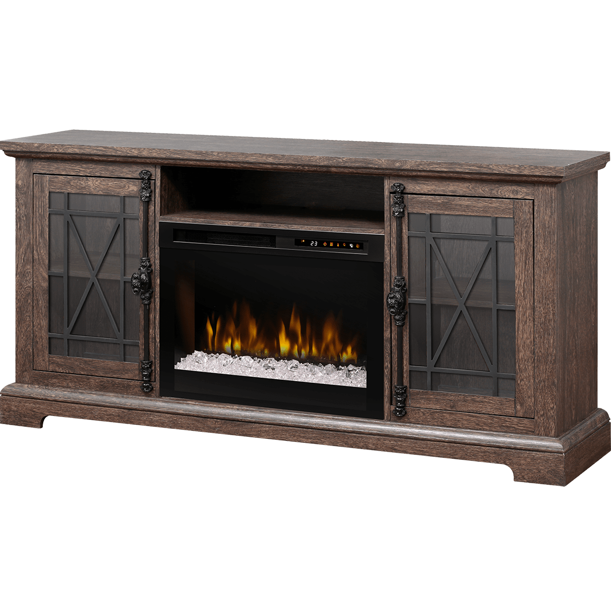 console stand of industrial tv with up awesome whalen output tvs media for fireplace inch to