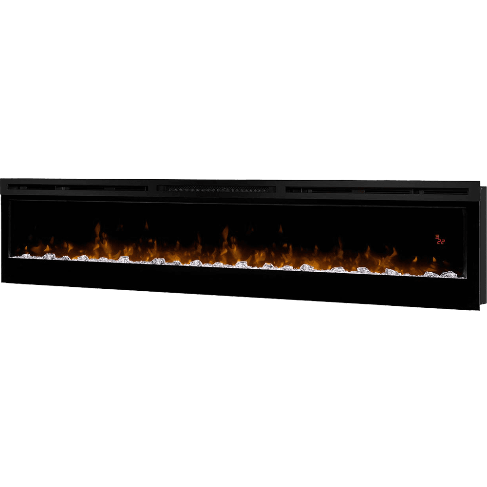 dimplex prism blf7451 74 inch linear wall mount fireplace