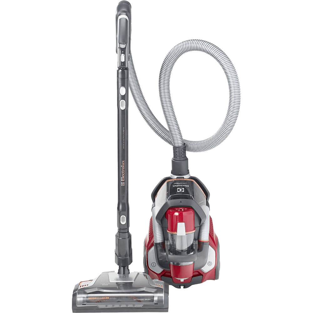 electrolux el4335a ultraflex bagless canister vacuum front upright view - Panasonic Canister Vacuum