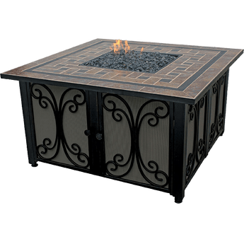 Endless Summer Outdoor Fire Pit w/ Slate Tile Mantel | Sylvane