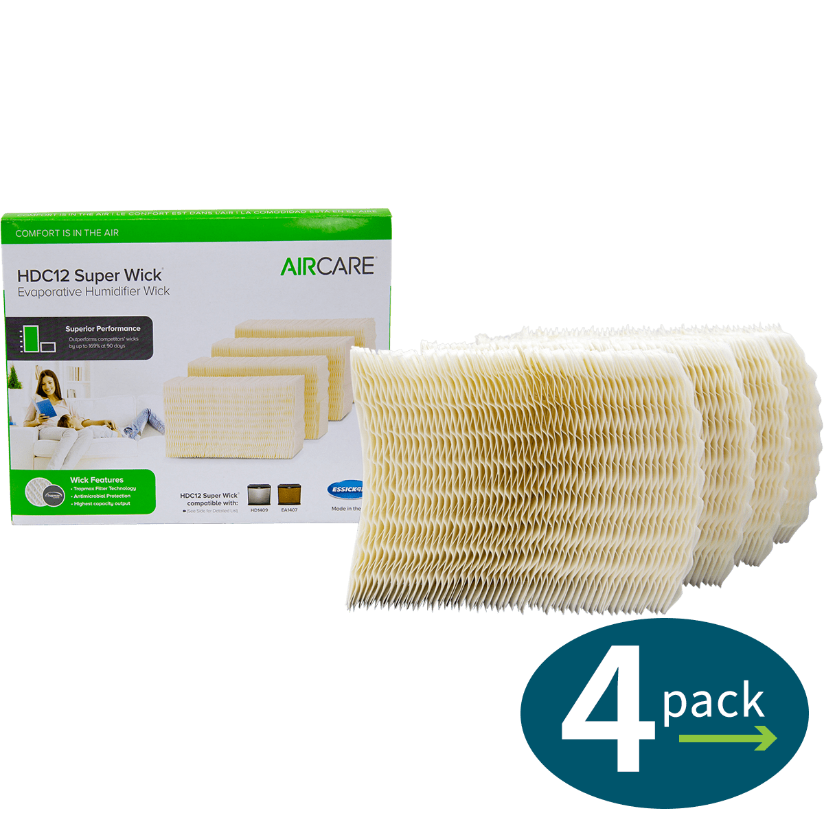 Aircare Hdc12 Replacement Humidifier Filters 4 Pack