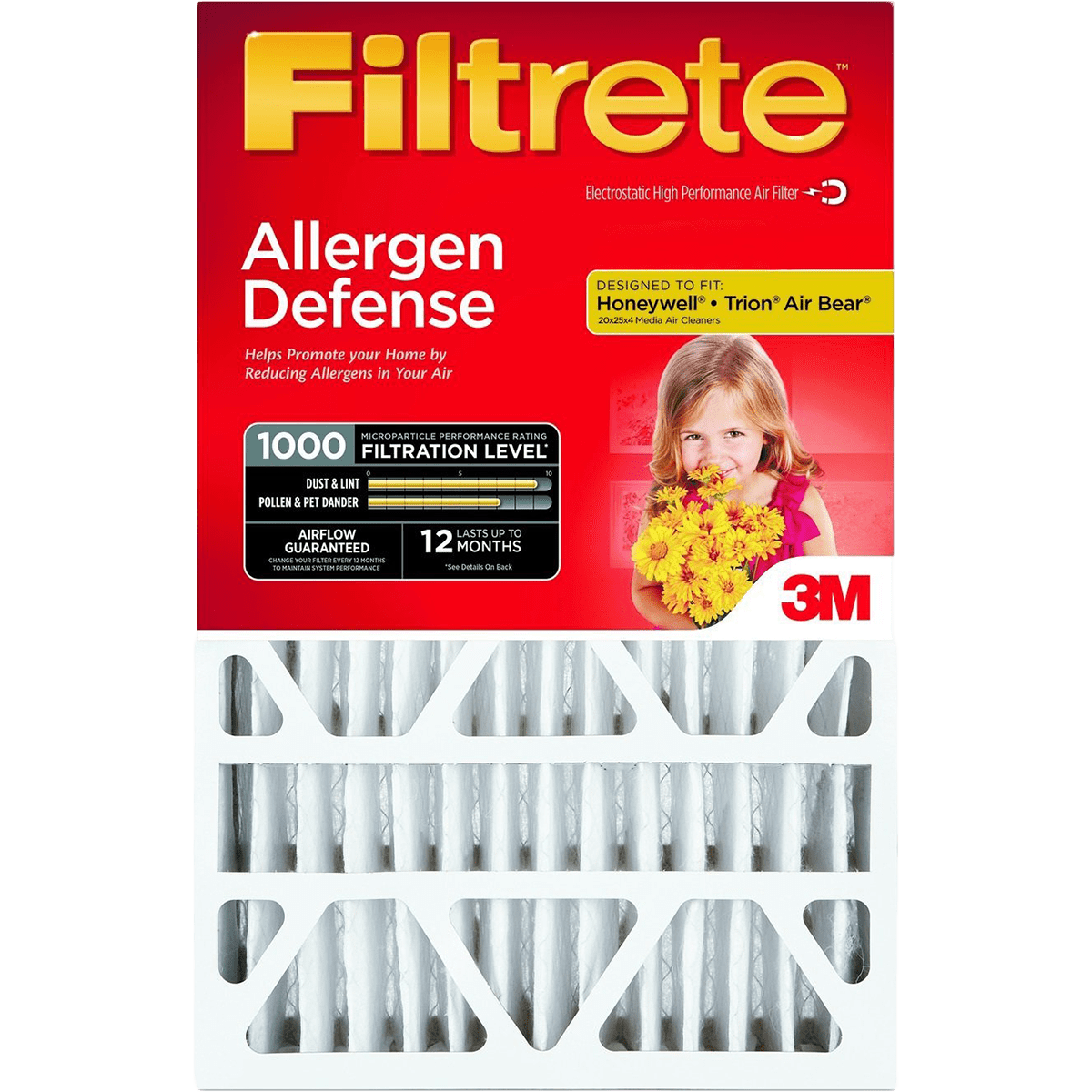 3M Filtrete MPR 1000 4-Inch Micro Allergen Defense Air Filters - 2 Pack fi5646