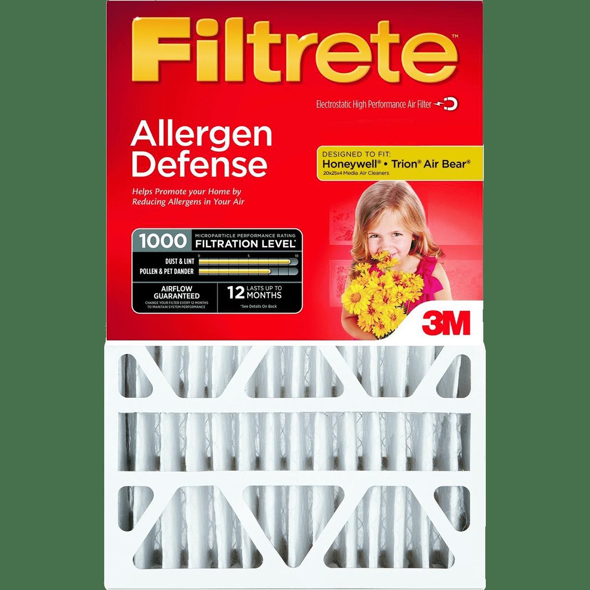 3M Filtrete MPR 1000 4-Inch Micro Allergen Defense Air Filters - 2 Pack fi5647