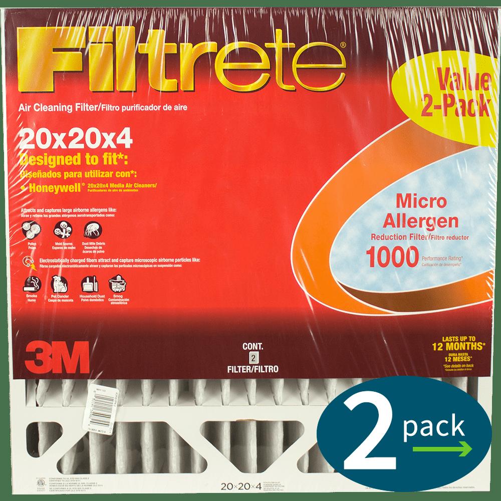 3m Filtrete Mpr 1000 4-inch Micro Allergen Defense Air Filters