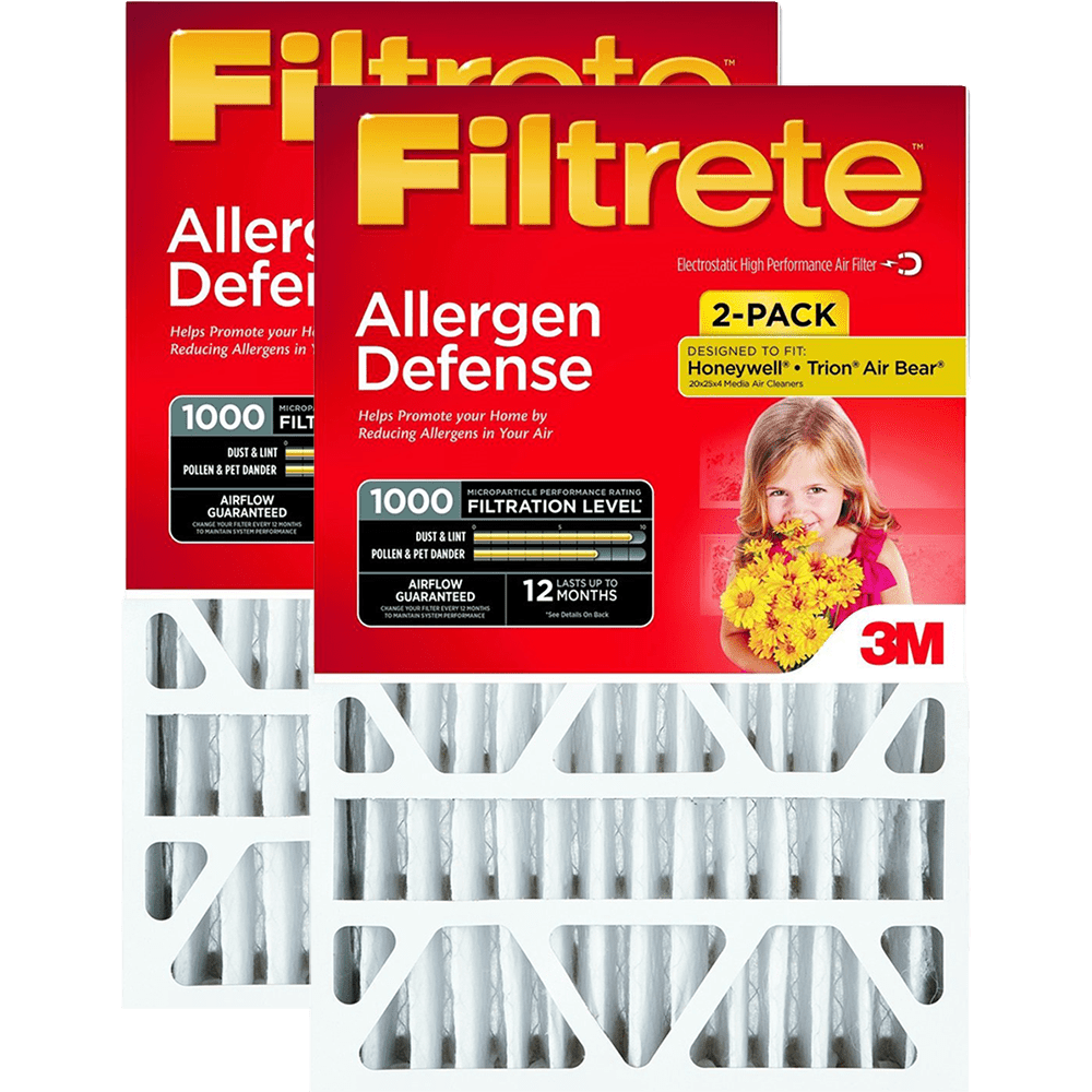 3M Filtrete MPR 1000 4-Inch Micro Allergen Defense Air Filters - 2 Pack fi5335