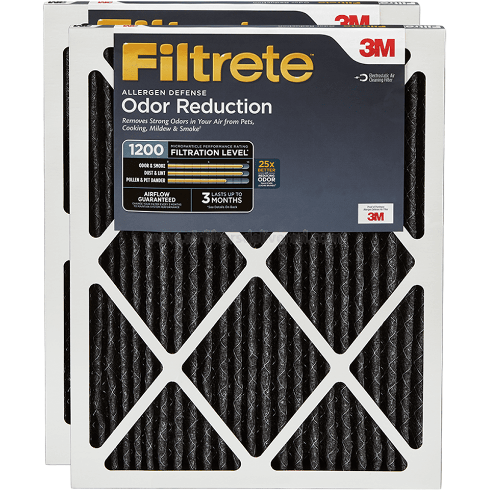 3m Filtrete 1200 Mpr Allergen Defense Odor Reduction Filters 16x20x1 2-pack