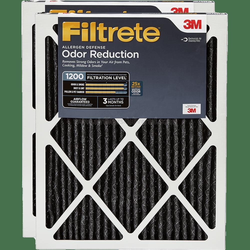 3m Filtrete 1200 Mpr Allergen Defense Home Odor Reduction Filters, 1-inch