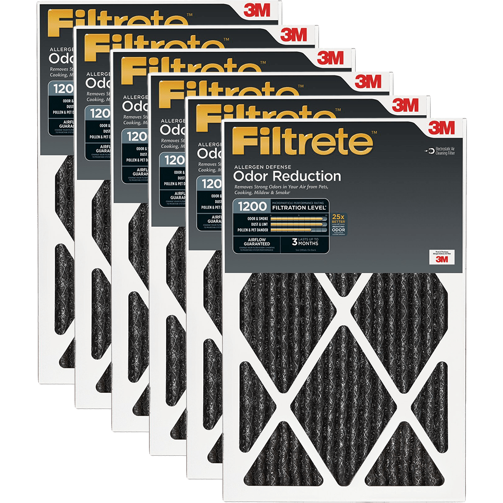 3M Filtrete 1200 MPR Allergen Defense Home Odor Reduction Filters, 1-Inch fi5318
