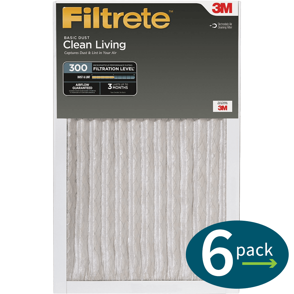 3m filtrete 300 mpr clean living basic dust reduction air filters - Filtrete Air Filter