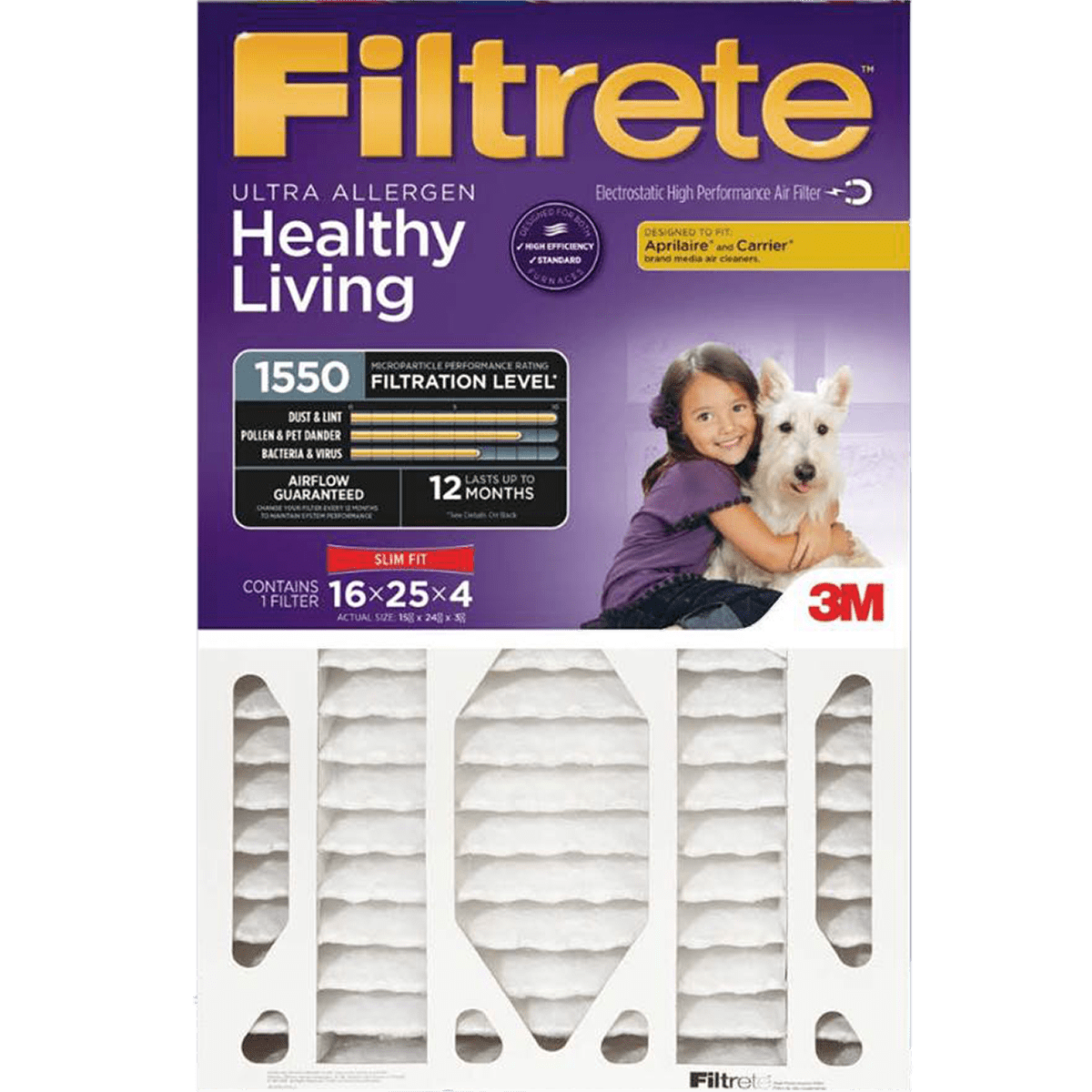 3m filtrete healthy living ultra allergen mpr slim fit filters - Filtrete Air Filter