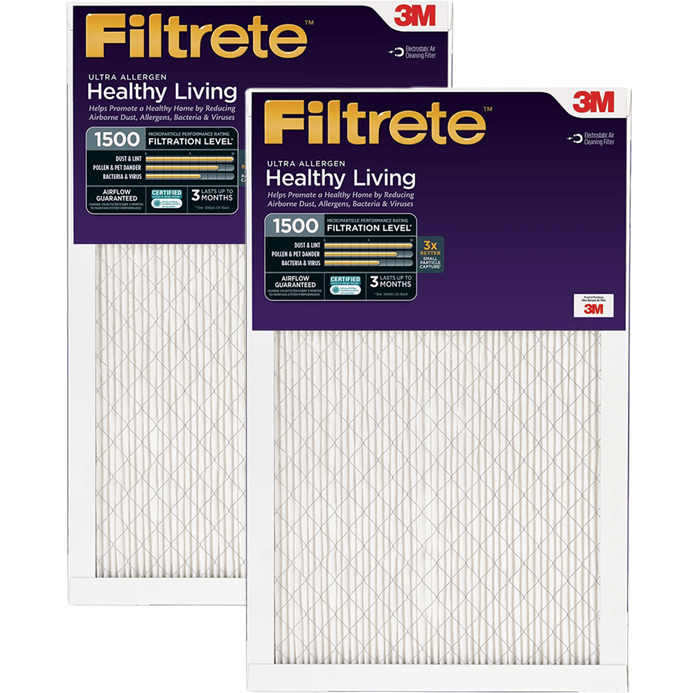 3m Filtrete Healthy Living 1500 Mpr Ultra Allergen Reduction Filters 16x25x1 2-pack