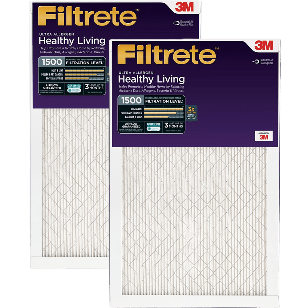 3M Filtrete Healthy Living 1500 MPR Ultra Allergen Reduction Filters, 1 Inch fi5350