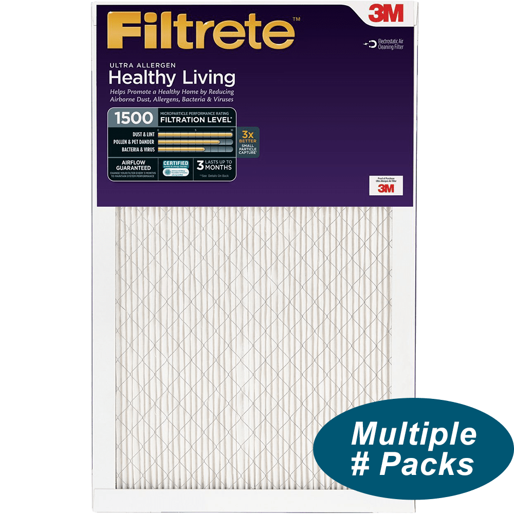 Nordic Pure 16x24x1 MPR 1900 Healthy Living Maximum Allergen Reduction Replacement AC Furnace Air Filters 4 Pack