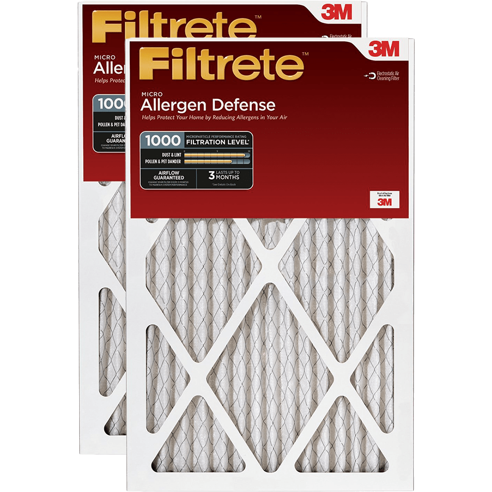 3M Filtrete 1-Inch Micro Allergen Defense MPR 1000 Air Filters - 2 Pack fi5407