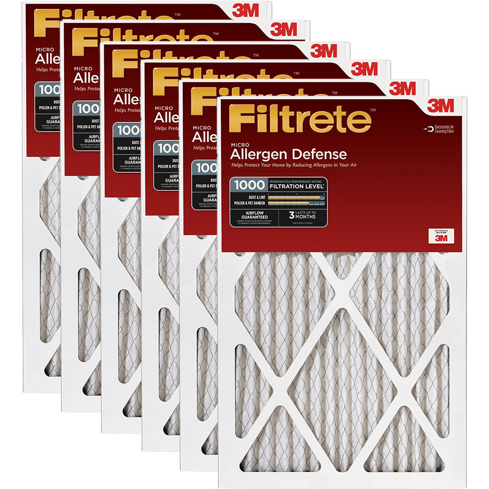 3M Filtrete 1-Inch Micro Allergen Defense MPR 1000 Air Filters - 2 Pack fi5411