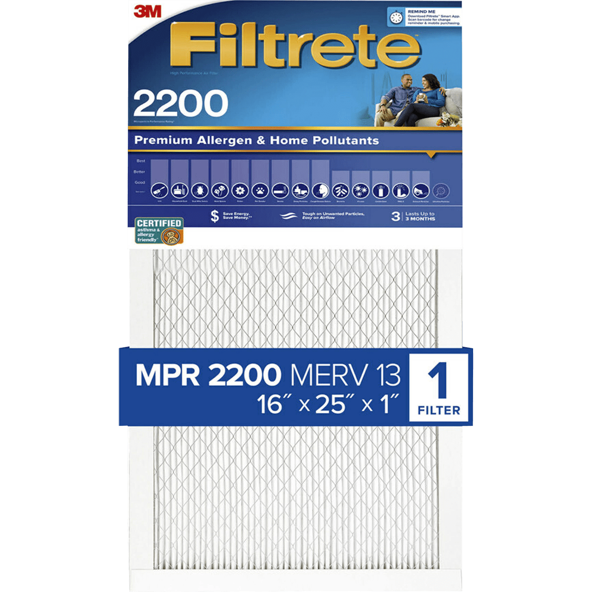 Nordic Pure 16x25x1 MPR 1085 Pleated Micro Allergen Extra Reduction Replacement AC Furnace Air Filters 4 Pack