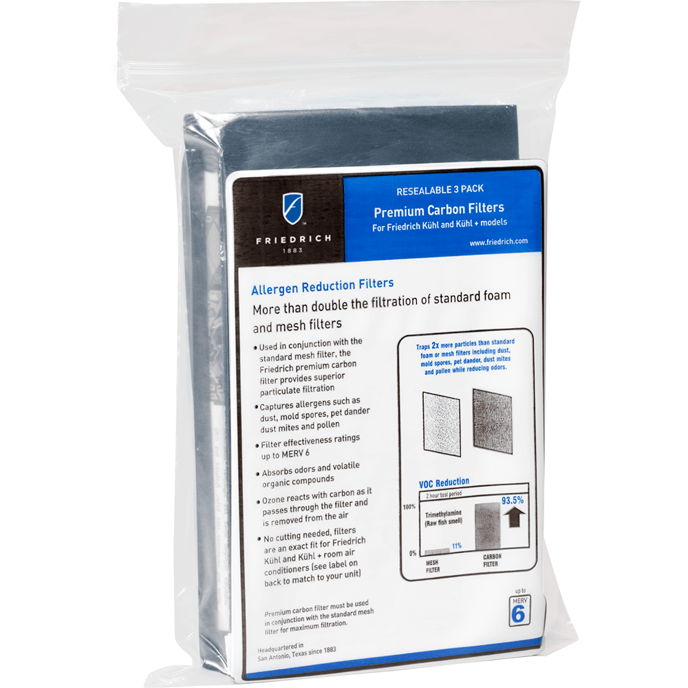 Friedrich Premium Carbon Filter 3 Pack KWCFM
