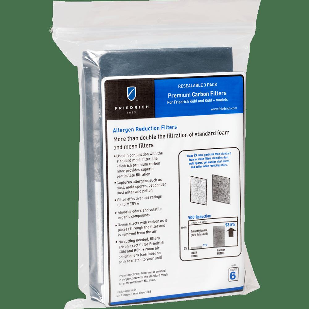 Friedrich KWCFS Premium Carbon Filters 3 Pack