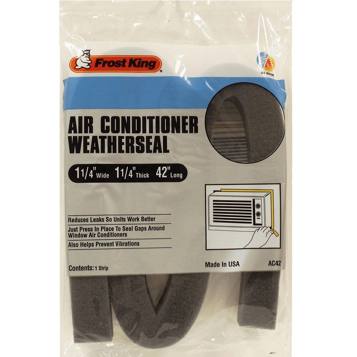 Frost King Air Conditioner Weather Seal Sylvane