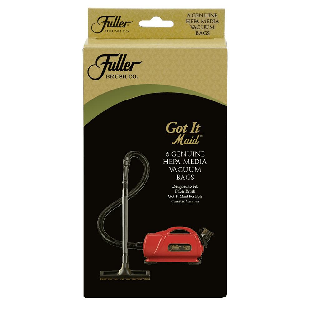 Fuller Brush HEPA Media Bags for Got It Maid Portable Vacuum - 6pk fu4597