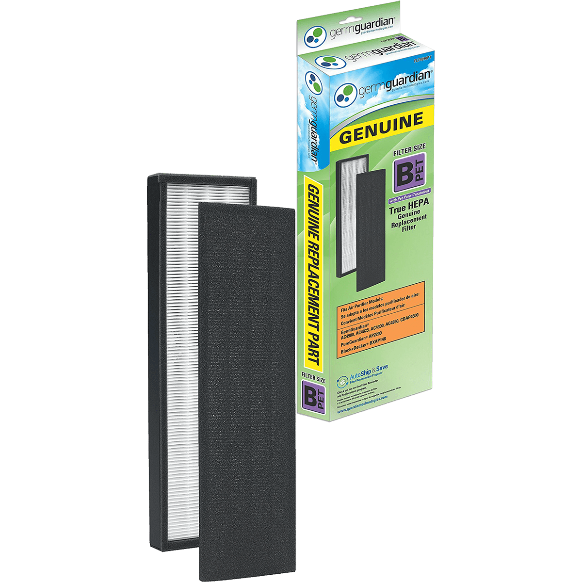 GermGuardian Replacement HEPA Filter B PET (FLT4850PT) ge3586
