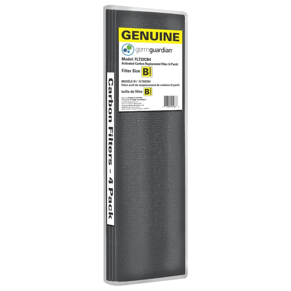GermGuardian 4-Pack Carbon Filters for 22-Inch Air Purifiers ge7104