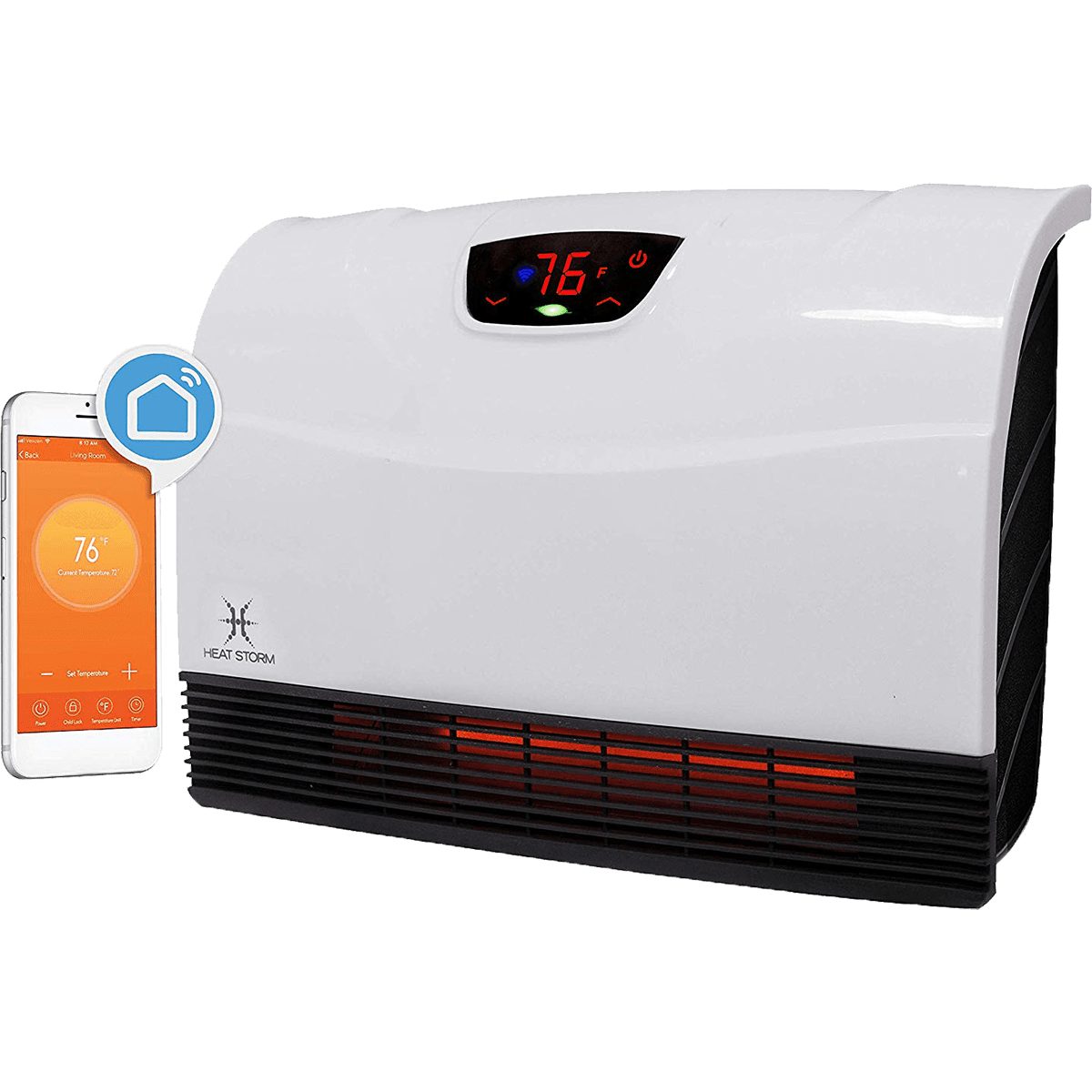 Heat Storm Phoenix Wall Heater with Wifi Model: HS-1500-PHX-WIFI