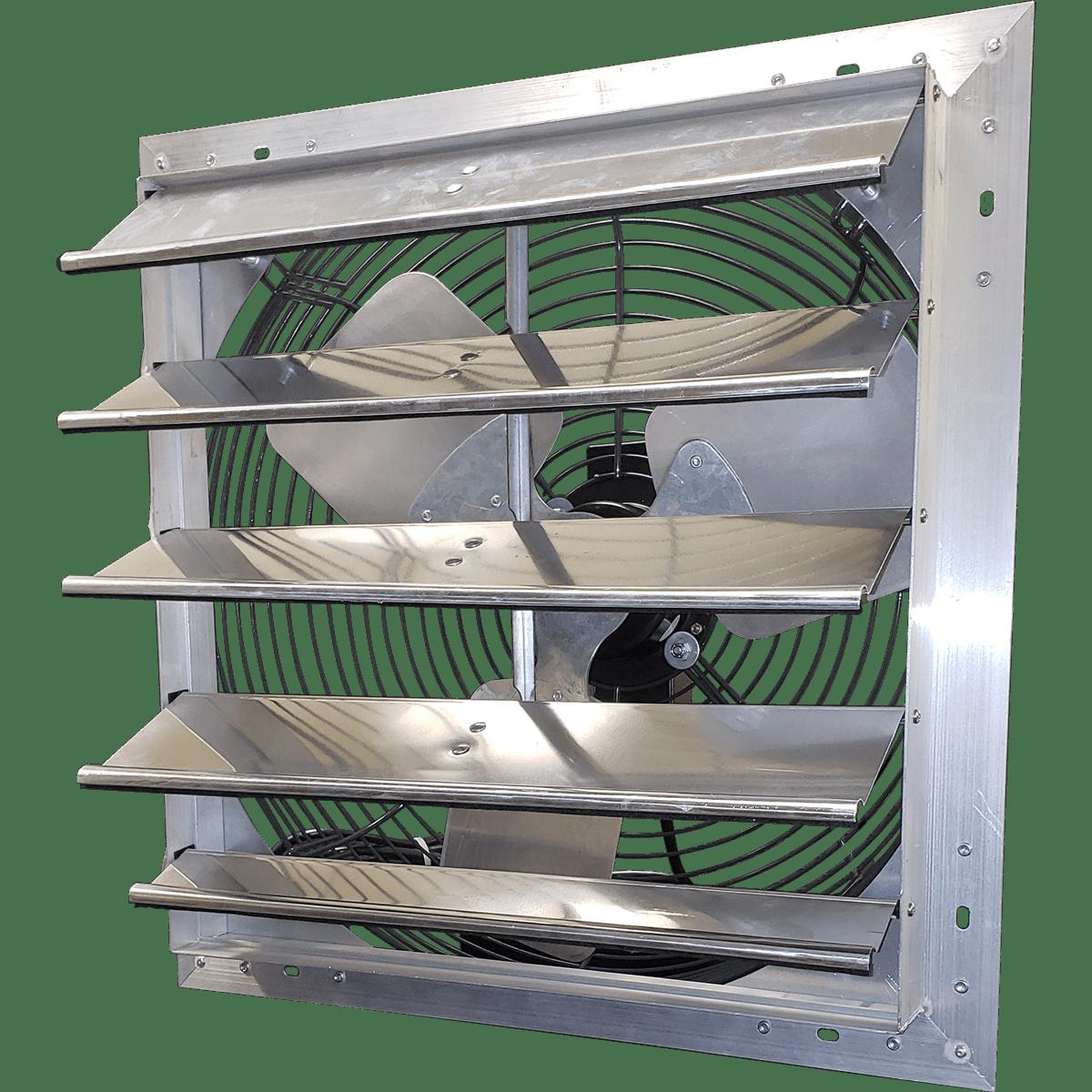All Guard Shutters hessaire 20 inch shutter mounted exhaust fan