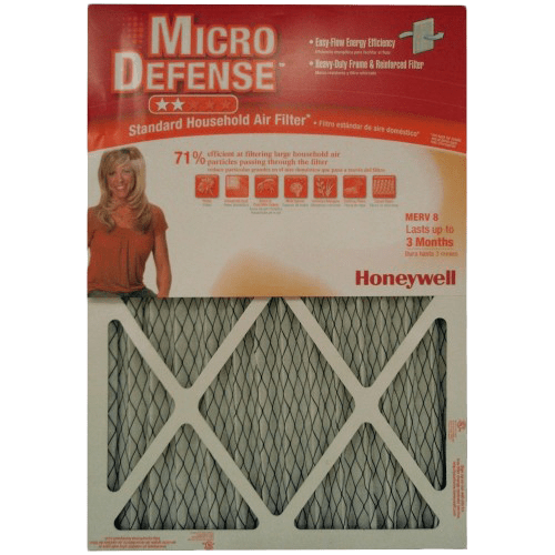 Honeywell Micro Defense 1-Inch MERV-8 Furnace Filters (6-PACK) ho4016